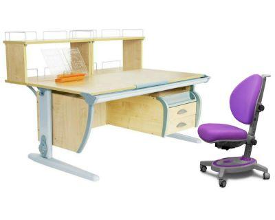 Комплект ДЭМИ Парта СУТ 15-04Д2 с креслом Stanford и прозрачной накладкой на парту 65х45