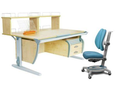 Комплект ДЭМИ Парта СУТ 15-04Д2 с креслом Stanford Duo и прозрачной накладкой на парту 65х45