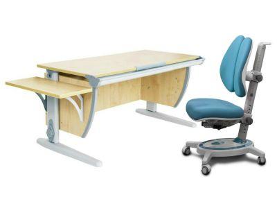 Комплект ДЭМИ Парта СУТ 15К с креслом Stanford Duo и прозрачной накладкой на парту 65х45