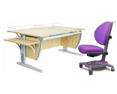 Комплект ДЭМИ Парта СУТ 17-02 с креслом Stanford и прозрачной накладкой на парту 65х45