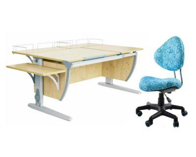 Комплект ДЭМИ Парта СУТ 17-02 с креслом Aladdin и прозрачной накладкой на парту 65х45