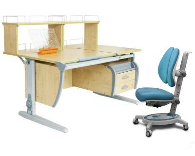 Комплект ДЭМИ Парта СУТ 17-04Д2 с креслом Stanford Duo и прозрачной накладкой на парту 65х45