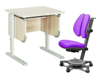"""Комплект ДЭМИ Парта """"Ученик"""" сут-28 с креслом Cambridge Duo и прозрачной накладкой на парту 65х45"""