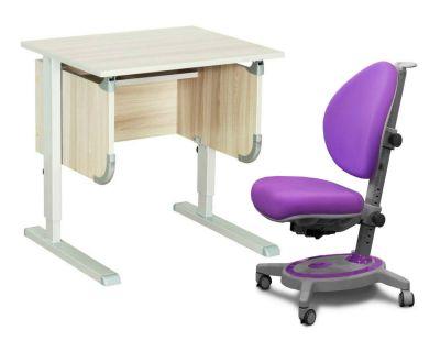 """Комплект ДЭМИ Парта """"Ученик"""" сут-28 с креслом Stanford и прозрачной накладкой на парту 65х45"""