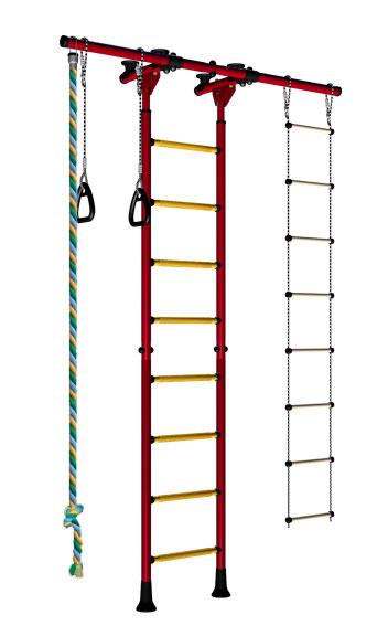 Шведские стенки из металла Карусель ДСКМ-2-8.06.Г4.410.01-32 Металл Красный цена