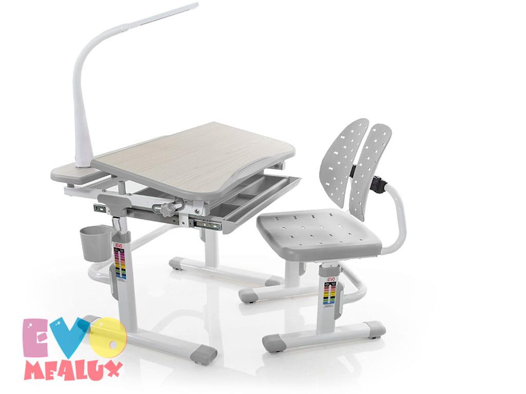 Комплект парта и стульчик Mealux EVO-05 с лампой