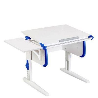 Комплект ДЭМИ Парта WHITE СТАНДАРТ СУТ-24К с креслом Stanford Duo и прозрачной накладкой на парту 65х45