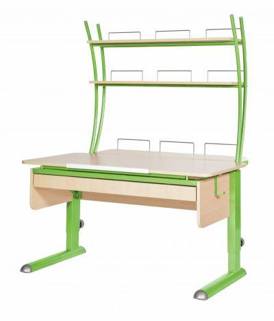 Комплект Астек Парта МОНО-2 с надстройкой и выдвижным органайзером со стулом SF-3 и прозрачной накладкой на парту 65х45