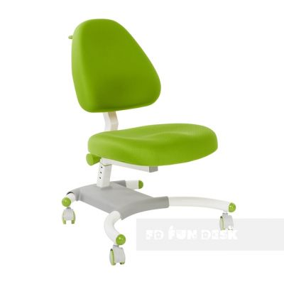 Комплект FunDesk Парта-трансформер Amare с креслом Ottimo и прозрачной накладкой на парту 65х45