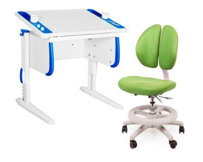 Комплект ДЭМИ Парта Techno СУТ 26 с креслом Duo Kid mini и прозрачной накладкой на парту 65х45