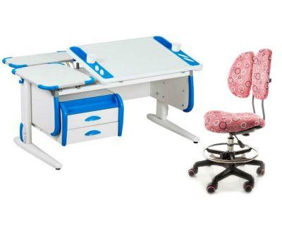 Комплект ДЭМИ Парта Techno СУТ 31-04 с креслом Simba и прозрачной накладкой на парту 65х45