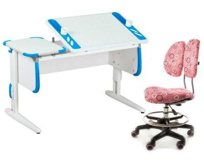 Комплект ДЭМИ Парта Techno СУТ 31 с креслом Simba и прозрачной накладкой на парту 65х45