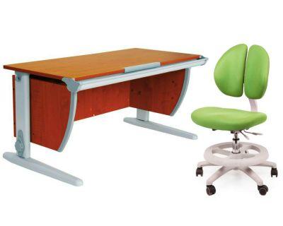 Комплект ДЭМИ Парта СУТ-15 120х55 см с креслом Duo Kid mini и прозрачной накладкой на парту 65х45