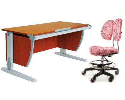 Комплект ДЭМИ Парта СУТ-15 120х55 см с креслом Simba и прозрачной накладкой на парту 65х45
