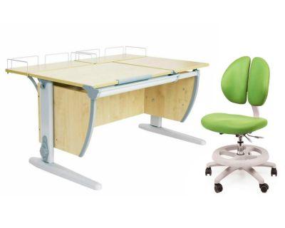 Комплект ДЭМИ Парта СУТ-17-01 120х80 см с креслом Duo Kid mini и прозрачной накладкой на парту 65х45