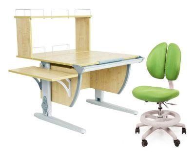 Комплект ДЭМИ Парта СУТ 14-02Д с креслом Duo Kid mini и прозрачной накладкой на парту 65х45