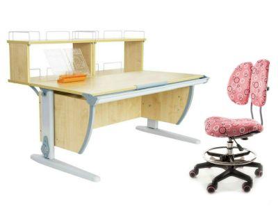 Комплект ДЭМИ Парта СУТ 15-01Д2 с креслом Simba и прозрачной накладкой на парту 65х45