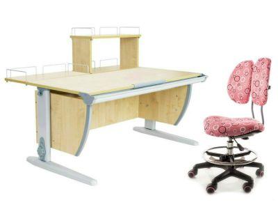 Комплект ДЭМИ Парта СУТ 15-01Д с креслом Simba и прозрачной накладкой на парту 65х45