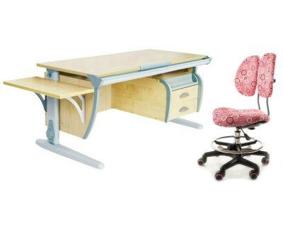 Комплект ДЭМИ Парта СУТ 15-03К с креслом Simba и прозрачной накладкой на парту 65х45