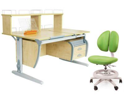 Комплект ДЭМИ Парта СУТ 17-04Д2 с креслом Duo Kid mini и прозрачной накладкой на парту 65х45