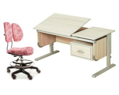 """Комплект ДЭМИ Парта """"Ученик"""" сут-29 с креслом Simba и прозрачной накладкой на парту 65х45"""
