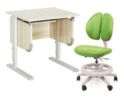 """Комплект ДЭМИ Парта """"Ученик"""" сут-28 с креслом Duo Kid mini и прозрачной накладкой на парту 65х45"""