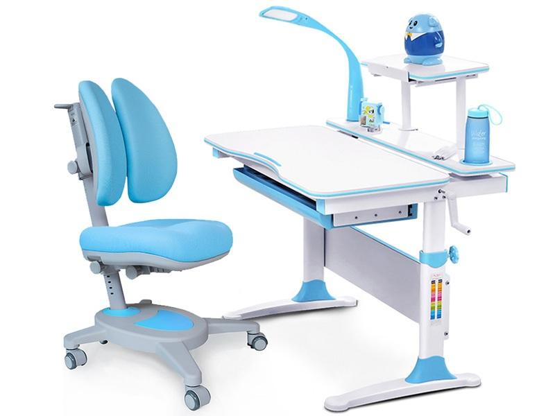 Комплект Mealux EVO-30 (парта Evo-Diego с лампой + кресло Y-115 с двойной спинкой)(дерево)