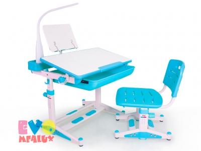 Комплект парта и стульчик Mealux EVO-04 XL new (BD-04 New) с лампой