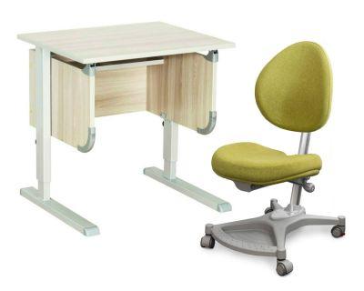 """Комплект ДЭМИ Парта """"Ученик"""" сут-28 с креслом Neapol и прозрачной накладкой на парту 65х45"""