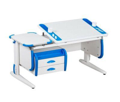 Комплект ДЭМИ Парта Techno СУТ 31-03 с тумбой с креслом Nobel и прозрачной накладкой на парту 65х45
