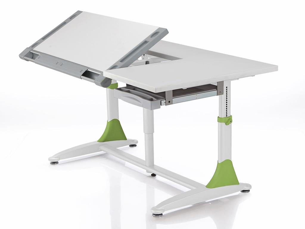 Домашняя парта Comf-pro King Desk МДФ Белый Зеленый