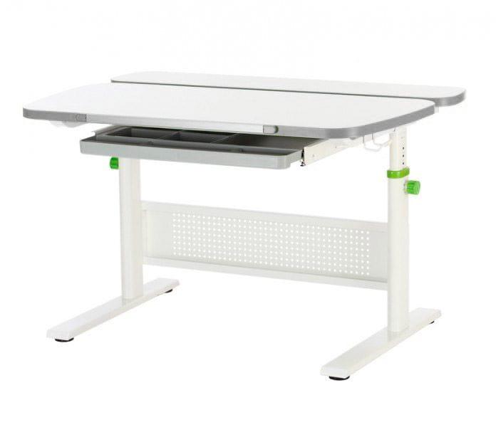 Домашняя парта KidsMaster K5 Unique Desk МДФ Беленый дуб Серый Белый