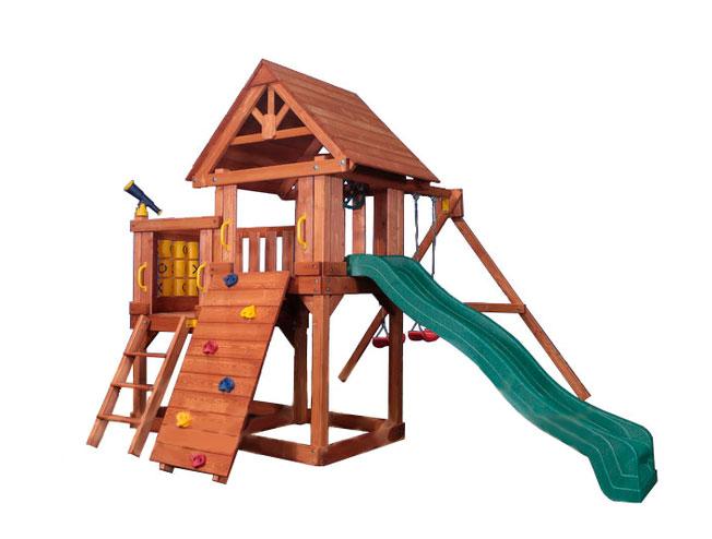 Детская игровая площадка PlayGarden Green Hill II с балконом Массив дерева Массив Кипариса playgarden игровая площадка original castle с пентхаусом