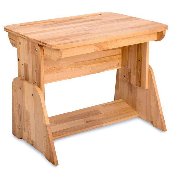 Домашняя парта Абсолют-мебель Школярик с пеналом С470 70см Массив дерева Бук массив
