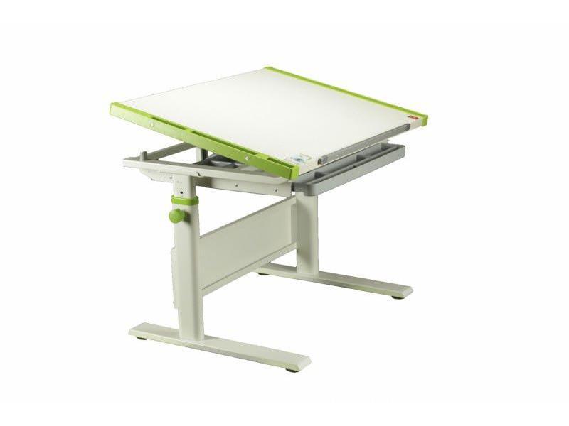 Домашняя парта KidsMaster K7 Creative Desk МДФ Беленый дуб Зеленый Белый