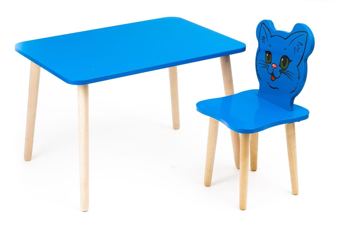 Комплект детской мебели Джери с голубым столиком комплект детской мебели мордочки с коричневым столиком