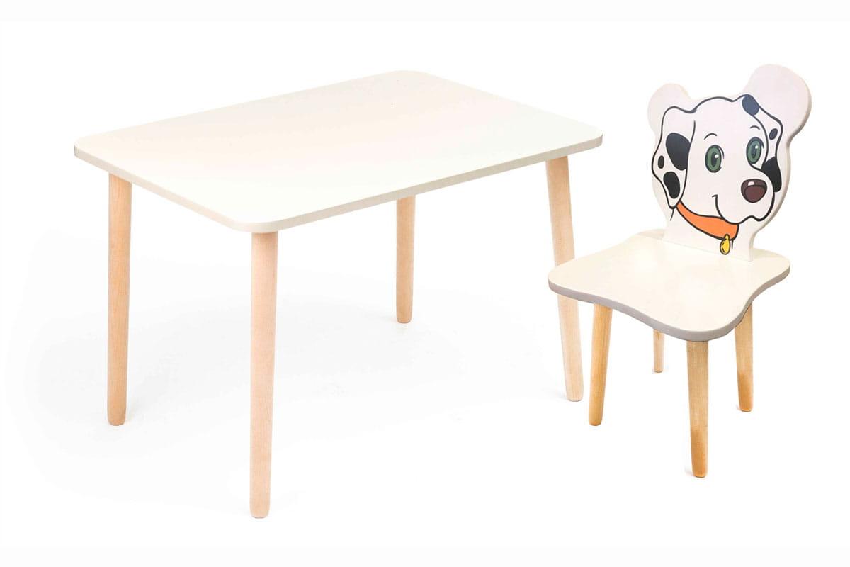 Комплект детской мебели Джери с белым столиком комплект детской мебели мордочки с коричневым столиком