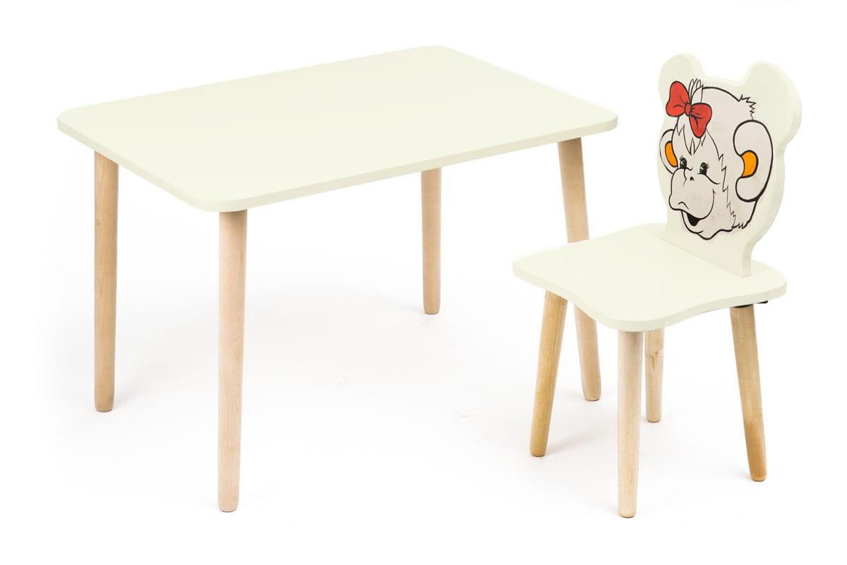 Комплект детской мебели Джери с ванильным столиком комплект детской мебели мордочки с коричневым столиком