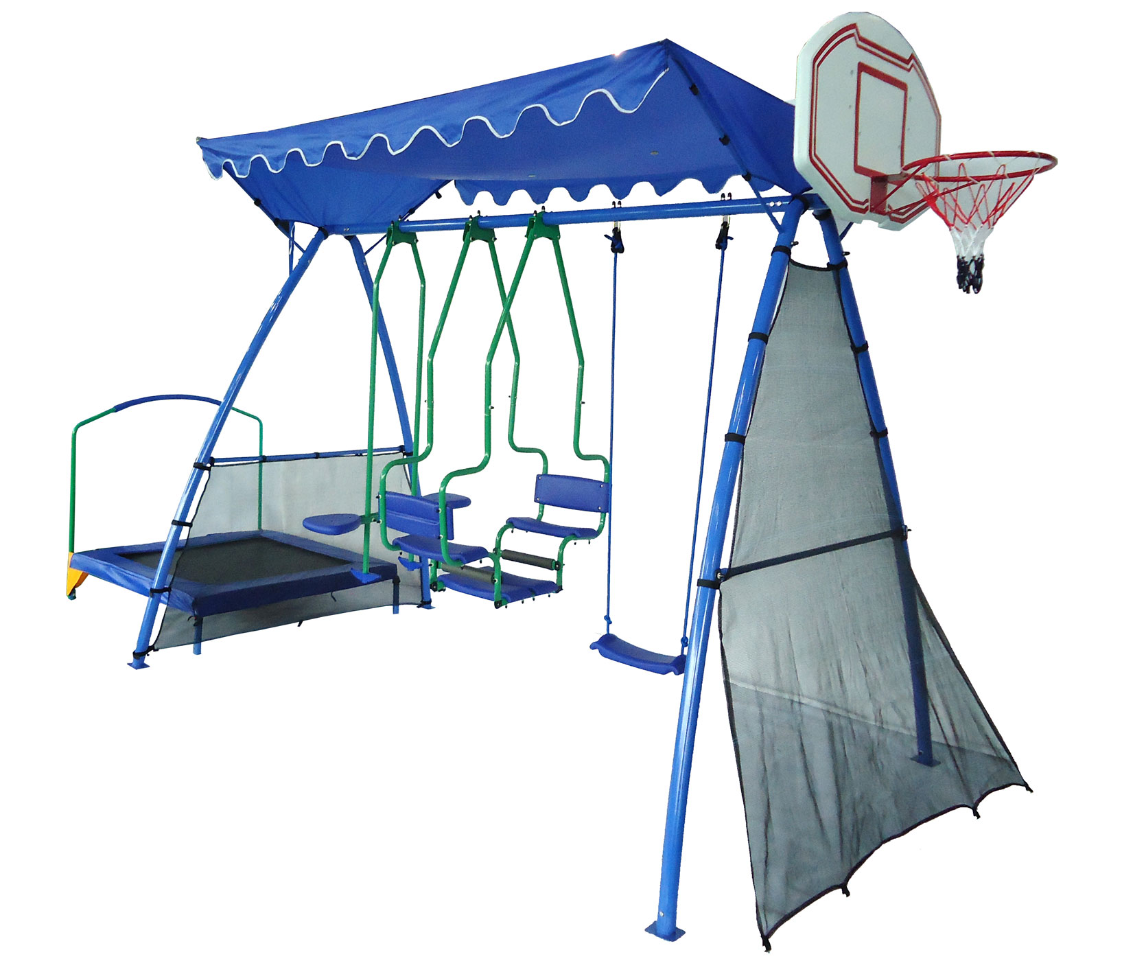 Детский городок 5 в 1 «Универсальный» Deluxe SR баскетбольный щит с кольцом dfc для батутов kengo