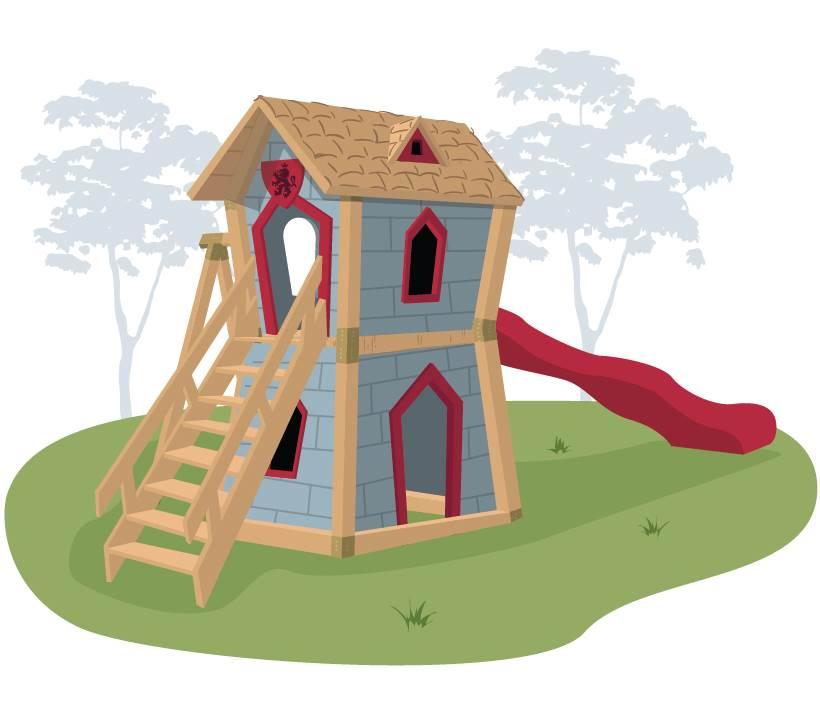 Crooked Игровой комплекс для детей Junior Castle paremo набор для игровой площадки доска для взбираний канат песочница и горка с лестницей с 3 лет