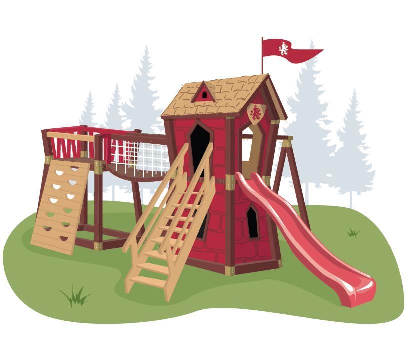 Игровой комплекс для детей Junior Red Castle брошь подиум