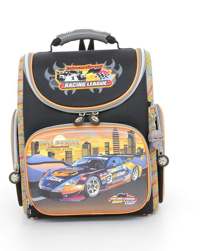 Черный ранец Hummingbird Racing League для мальчика (K62) цена