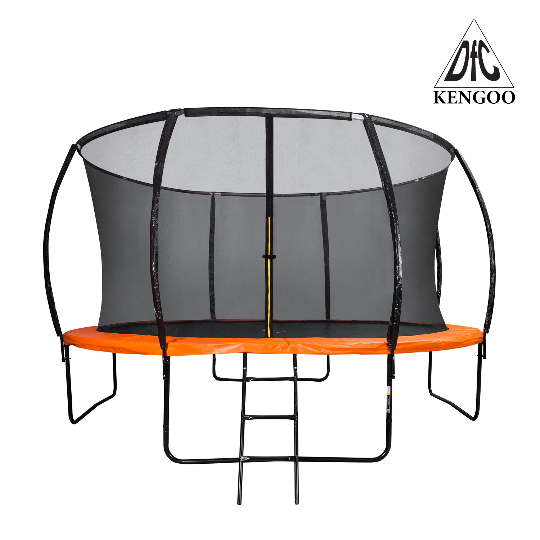 Батут для дачи DFC 14FT-TR-E-BAS Металл Оранжевый батут внутр енняя сетка лестница dfc trampoline kengoo 14ft tr e bas
