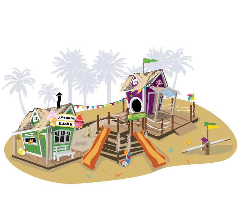 Crooked Игровой комплекс «Лагуна» комплекс башня с горкой smoby комплекс башня с горкой