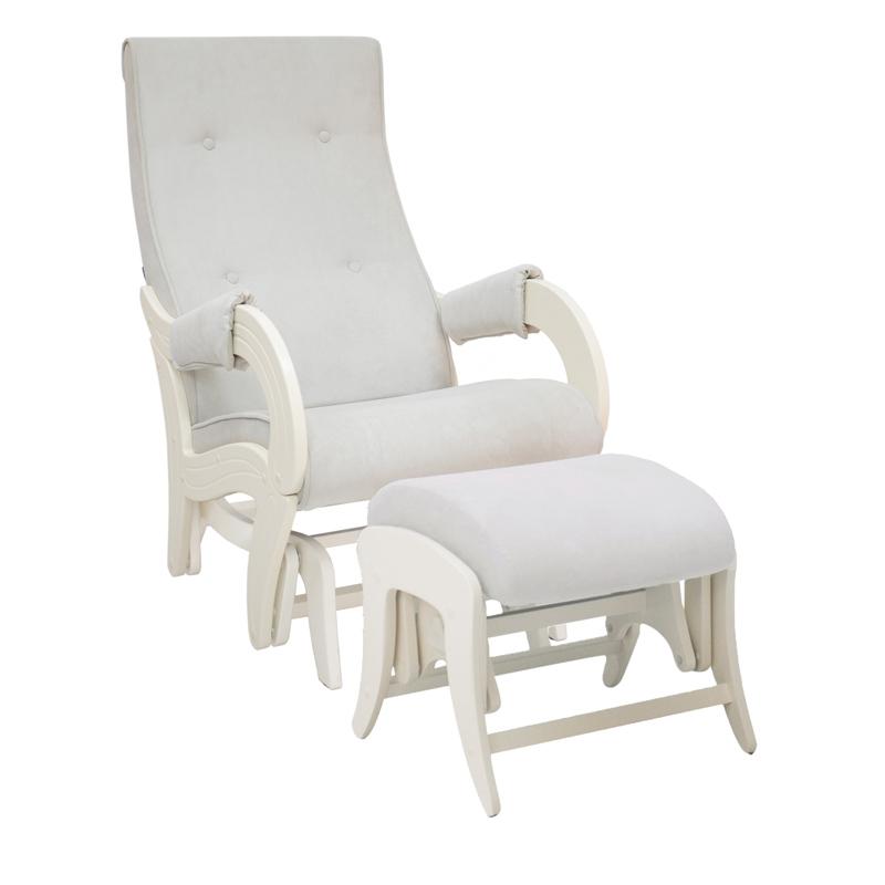 Кресло Milli Кресло для кормления Ice с пуфом