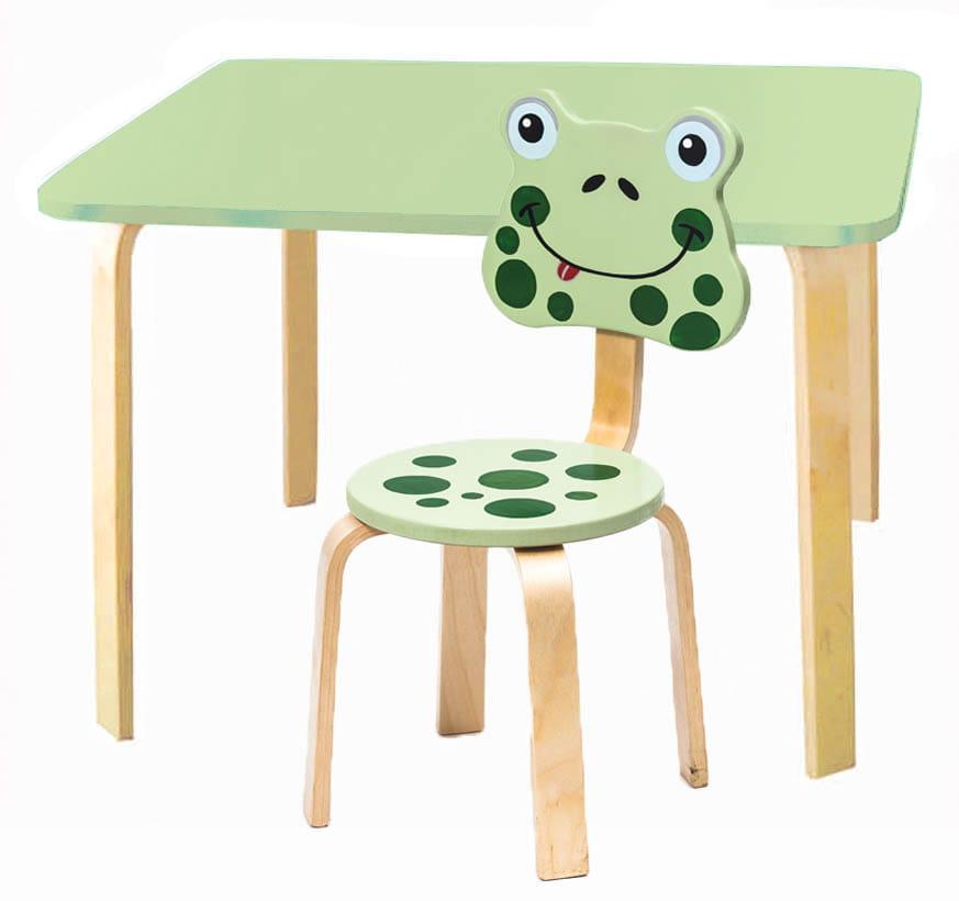 Комплект детской мебели Мордочки с салатовым столиком комплект детской мебели мордочки с коричневым столиком