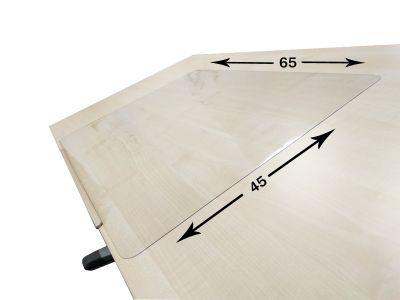 Комплект ДЭМИ Парта WHITE СТАНДАРТ СУТ-24-02Д с креслом Cambridge и прозрачной накладкой на парту 65х45