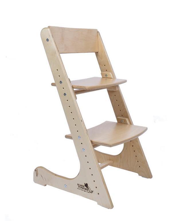 Детские стулья для письменного стола Конек Горбунек натуральный без покрытия Фанера Береза без лака