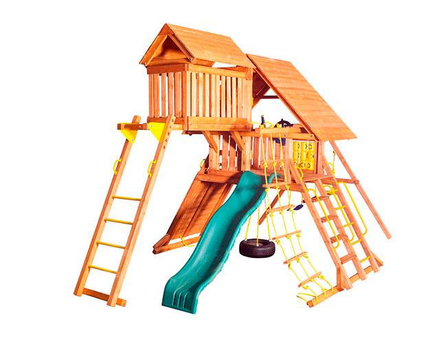 Детская игровая площадка PlayGarden Original Castle с пентхаусом Массив дерева Массив Кипариса playgarden игровая площадка original castle с пентхаусом