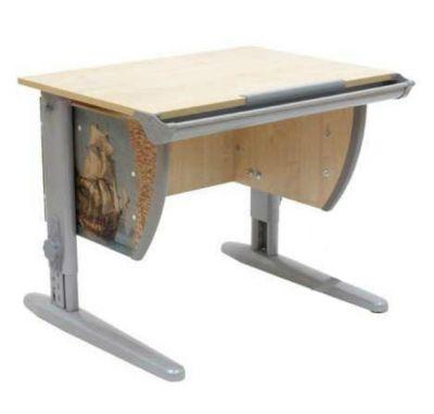 Комплект ДЭМИ Парта СУТ-14P 75х55 см с рисунком с креслом Stanford и прозрачной накладкой на парту 65х45